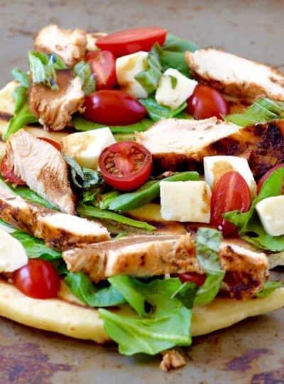 Grilled Chicken Caprese Flabread
