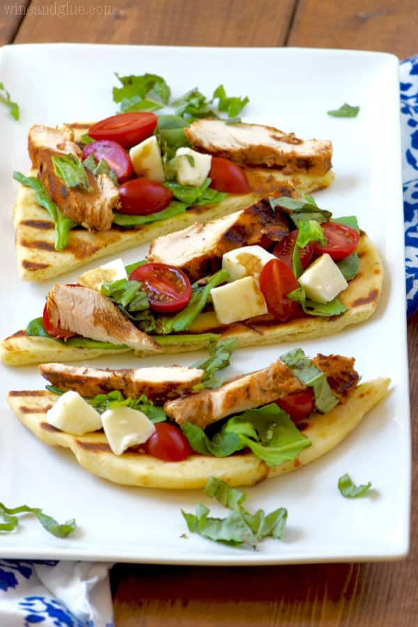 This Grilled Chicken Capese Flatbread is just about as easy as it comes and packed with delicious flavor!