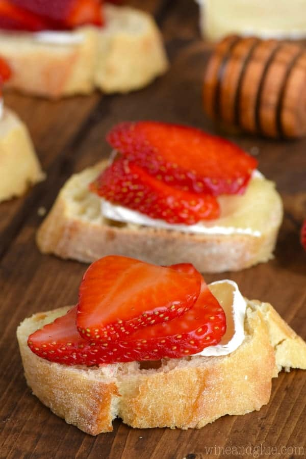 Honey, Strawberry & Brie Bruschetta