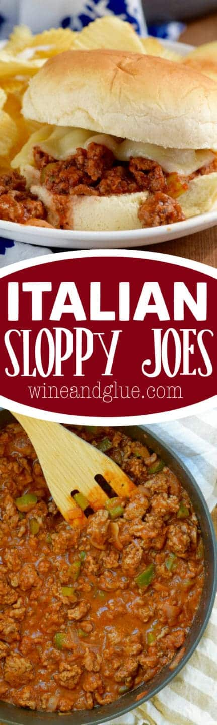 These Italian Sloppy Joes are an AMAZING twist on a classic and come together super fast!