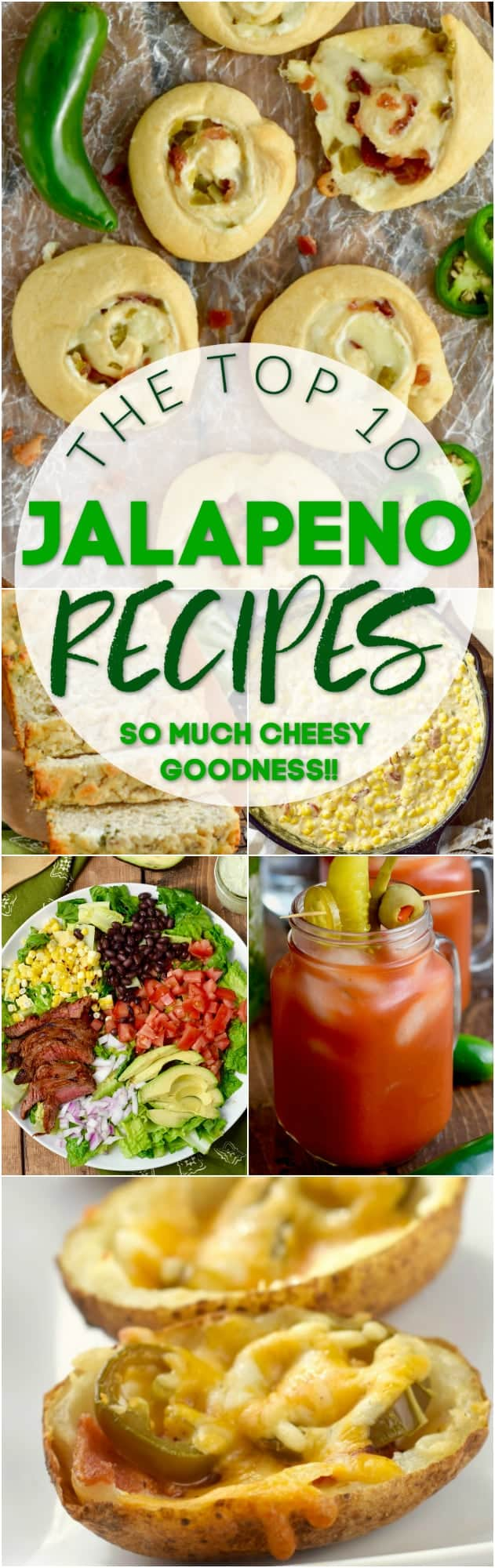 collage of photos of jalapeño recipes