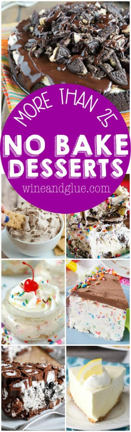 More than 25 No Bake Desserts