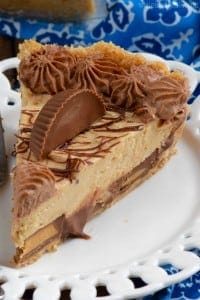 Peanut Butter Cup Pie has layer upon layer of creamy peanut butter deliciousness!  Peanut Butter Lovers, this easy peanut butter pie recipe is for you!