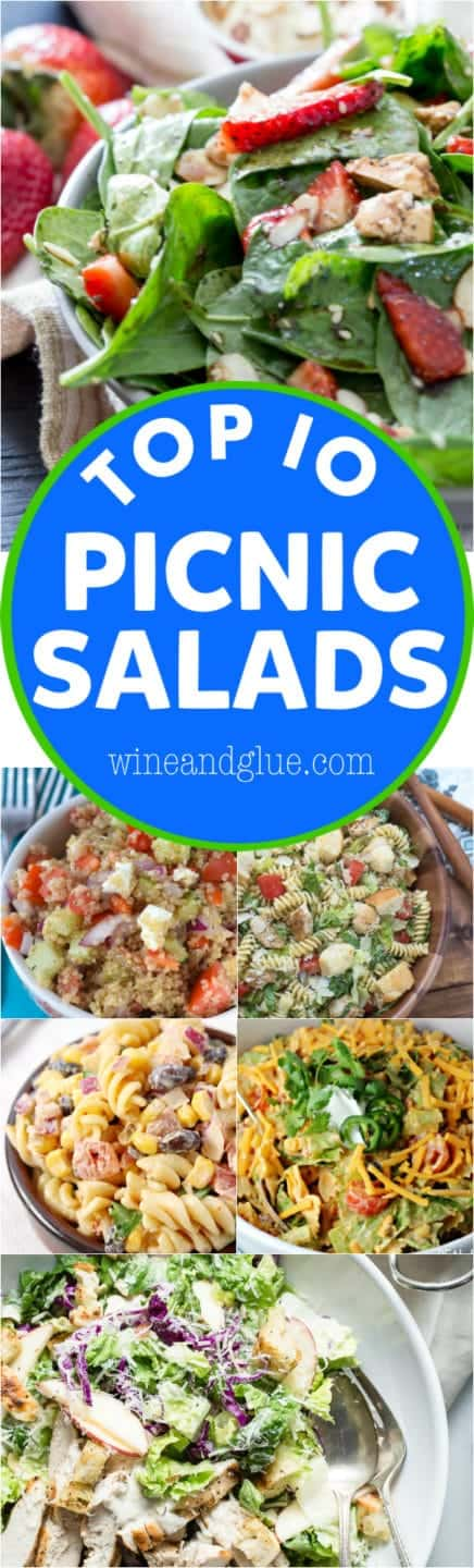 These Top 10 Picnic Salads are so perfect for your summer! You need this list!