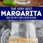 collage of pictures of the best margarita recipe