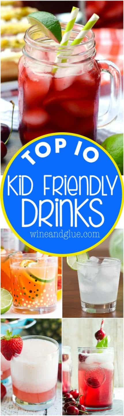Top 10 kid friendly drink recipes wine glue for Top 10 cocktail recipes