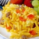 Mac N Cheese Breakfast Casserole