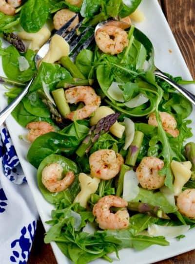 Shrimp Scampi Salad