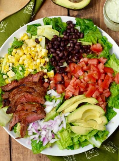 Southwestern Steak Salad with Jalapeño Ranch Dressing