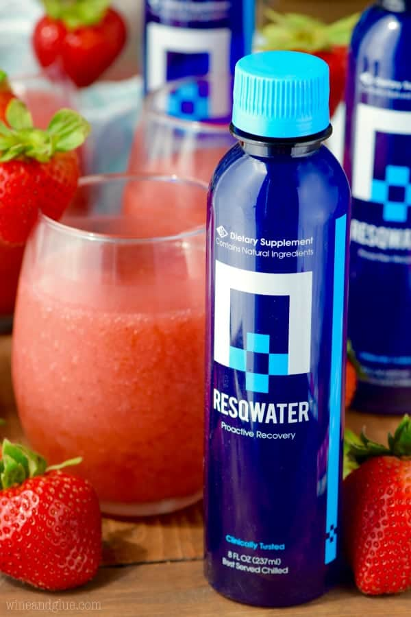 The Strawberry Daiquiri Sangria is next to the Resqwater Proactive Recovery.