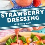 pinterest graphic of strawberry salad dressing