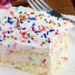 No Bake Birthday Cake Lasagna
