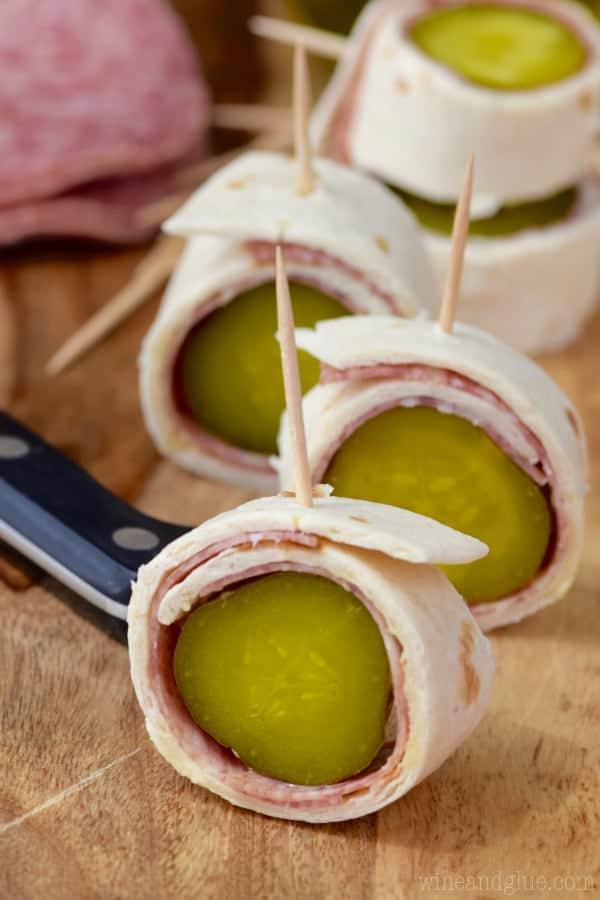 Salami Pickle Rolls