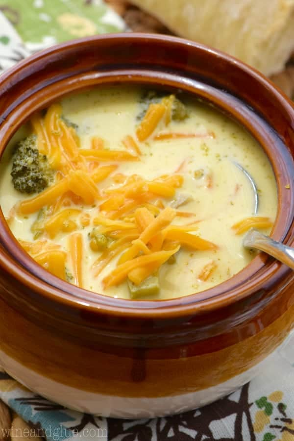 This Slow Cooker Broccoli Cheddar Soup is beyond simple, but so delicious! It definitely needs to be part of your dinner rotation!