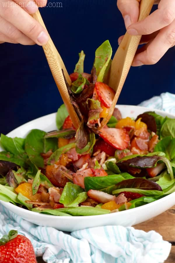 Strawberry Bacon Salad