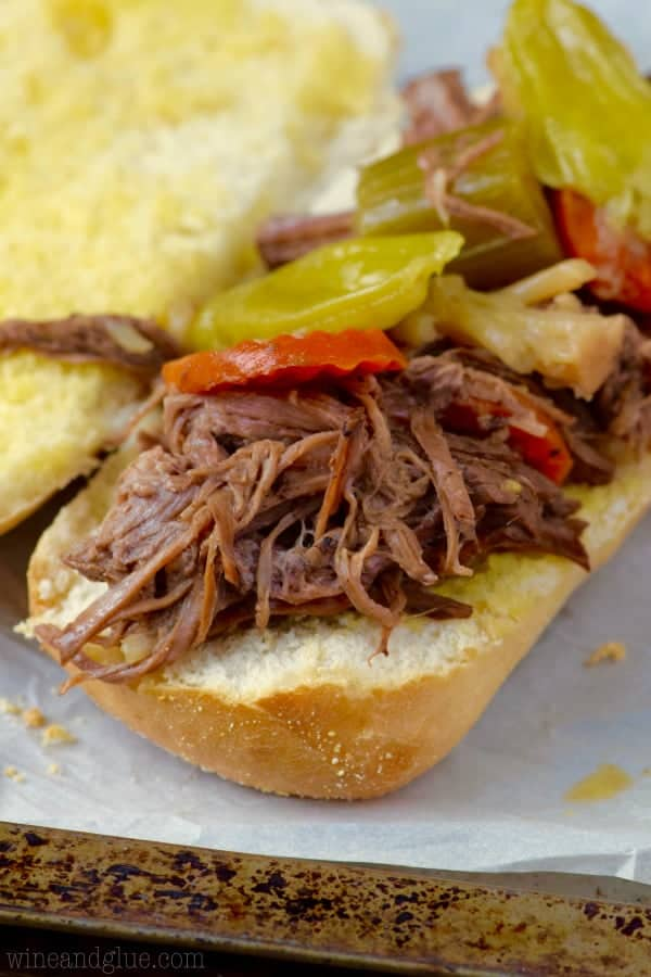 These Slow Cooker Italian Beef Sandwiches are about 10 minutes of ...