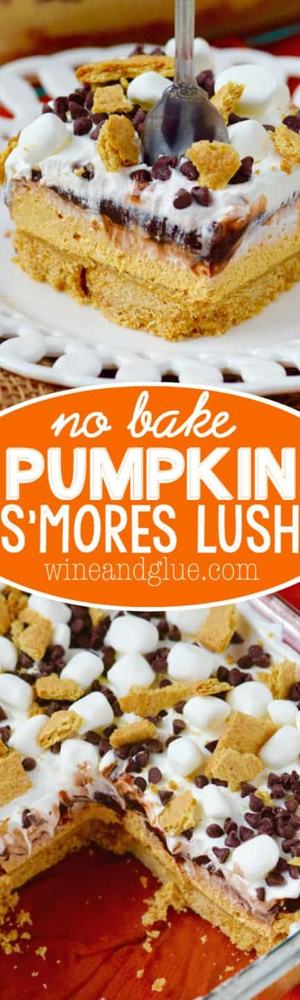 This Pumpkin S'mores Lush is FAST to make and the perfect no bake treat!