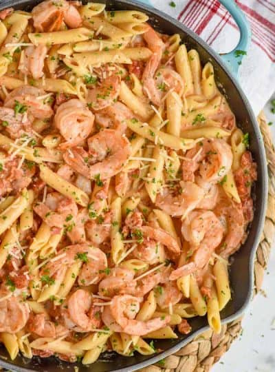 One Pot Creamy Shrimp Pasta