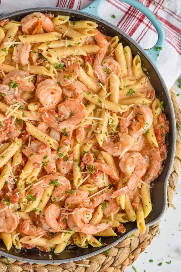 One Pot Creamy Shrimp Pasta