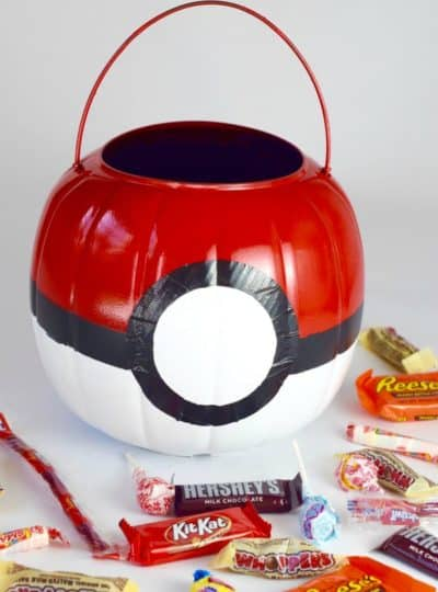 Pokémon Costume: Poké Ball Treat Bucket