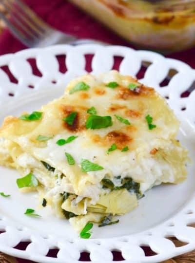 Spinach Artichoke White Lasagna