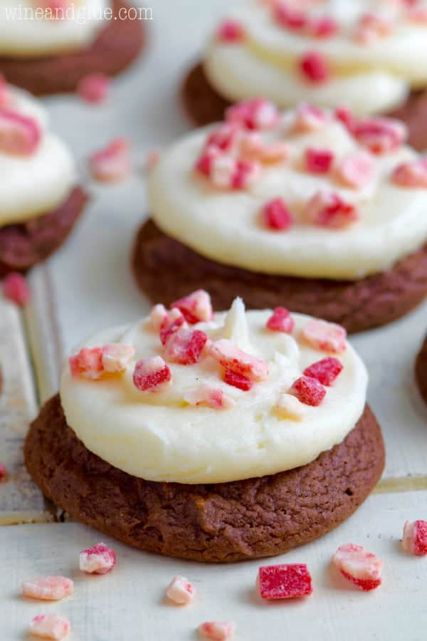 Chocolate Peppermint Cake Mix Cookies