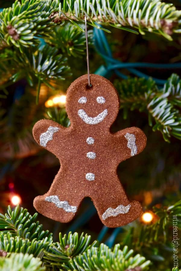 Gingerbread Man Christmas Ornaments - Wine & Glue