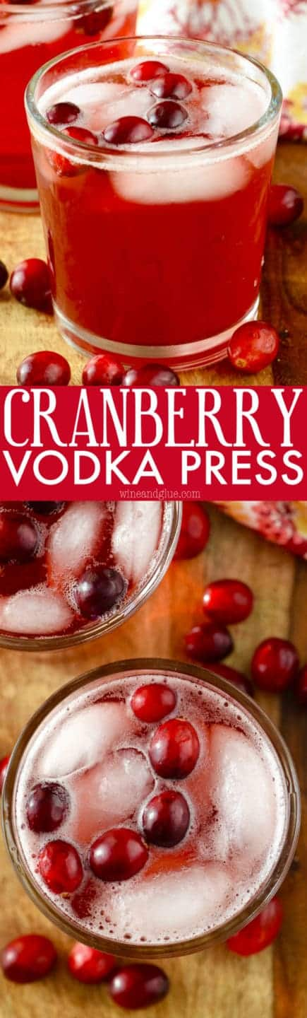 Cranberry vodka press wine glue for Light cocktails with vodka
