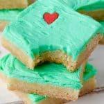 Grinch Sugar Cookie Bars