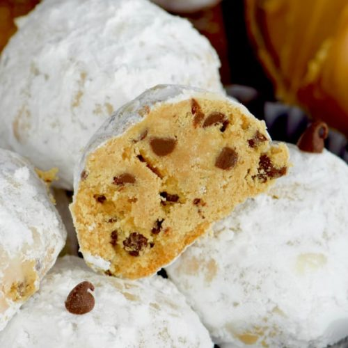 Peanut Butter Chocolate Chip Snowball Cookies