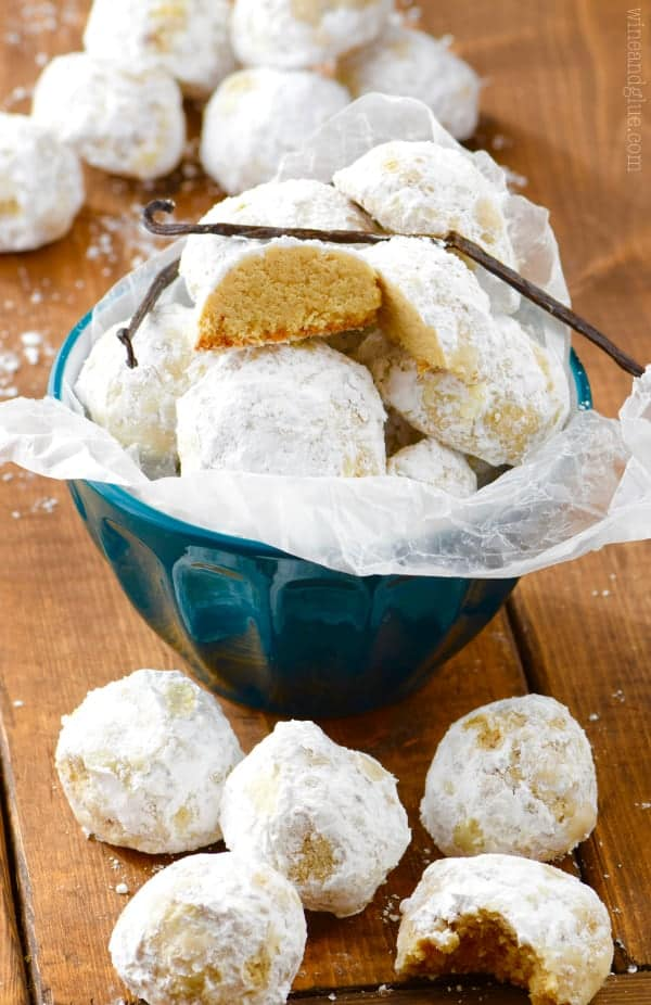 These Vanilla Bean Snowball Cookies are easy to make and melt in your mouth over the top delicious!