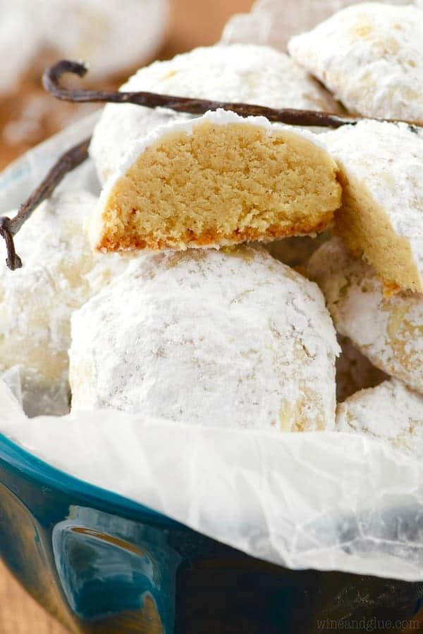 Vanilla Bean Snowball Cookies