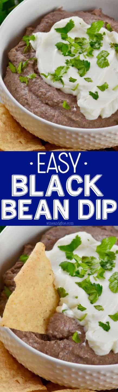 Easy Black Bean Dip - Wine & Glue