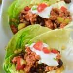 Five Ingredient Southwestern Lettuce Wraps