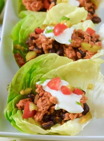 Five Ingredient Southwestern Lettuce Wraps
