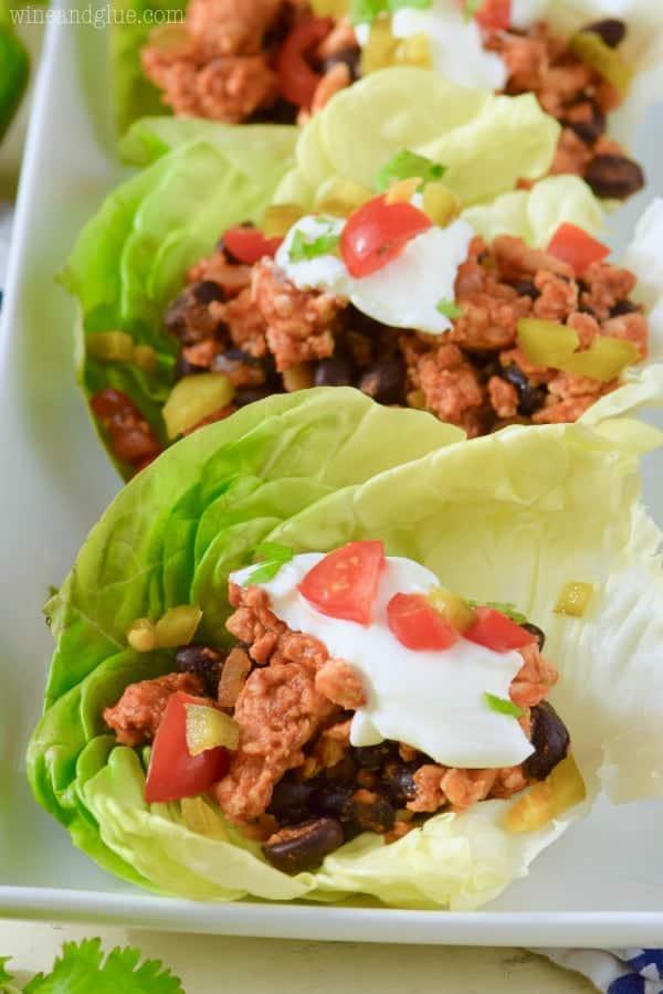 Southwestern Turkey Lettuce Wraps