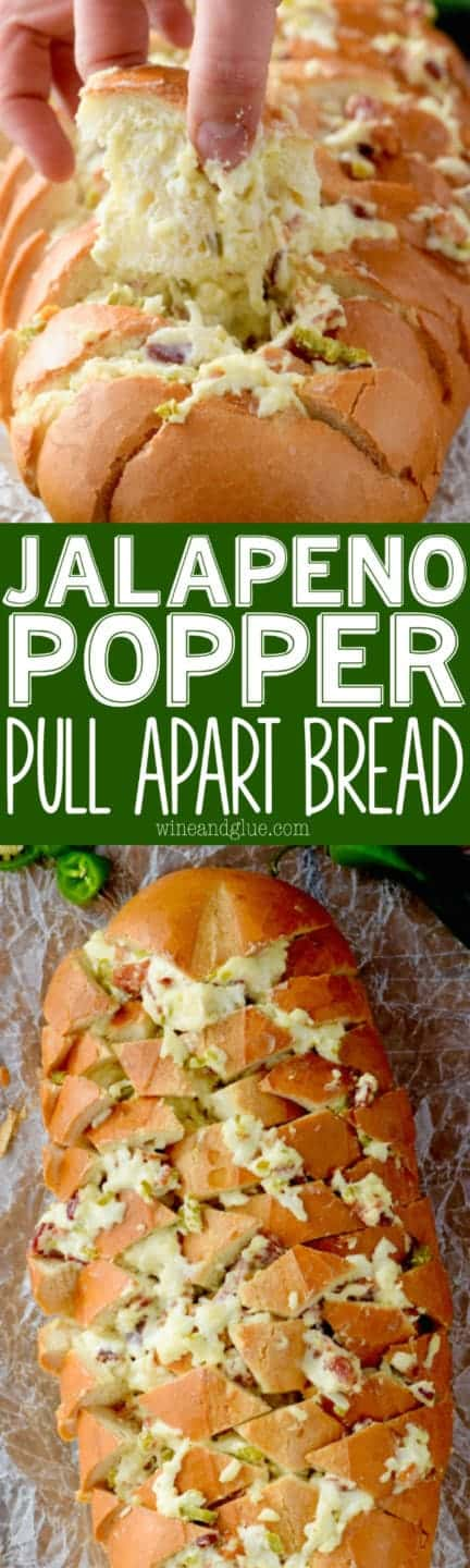 This Jalapeño Popper Pull Apart Bread comes together easily and is totally delicious. Good luck walking away from this!