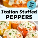 collage of photos of stuffed peppers