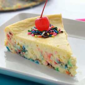 Cake Batter Cheesecake by Wine & Glue