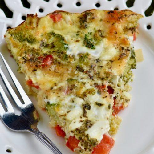 Garden Vegetable Crustless Quiche: Crustless Vegetable Quiche