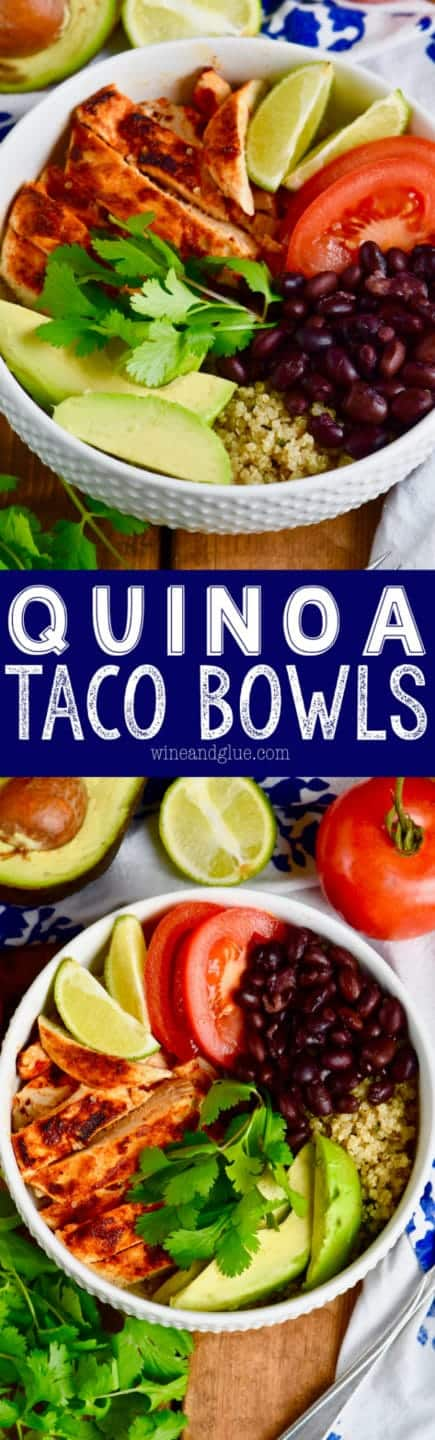 These Quinoa Taco Bowls are a lighter way of enjoying taco night without giving up the flavor!