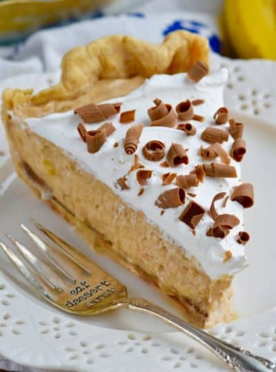 Black Bottom Banana Peanut Butter Pie