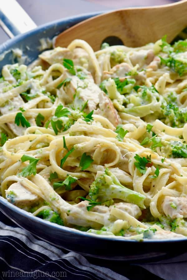This Lighter Fettuccine Alfredo is a twist on the classic that is lower in calories, but completely satisfying and delicious! Sure to become a family staple.