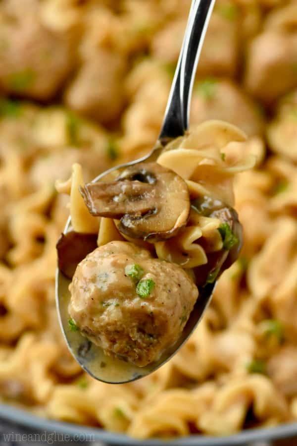 spoonful of meatball stroganoff recipe
