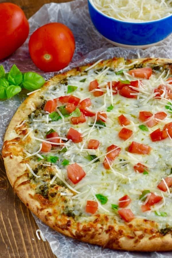 easy pesto pizza recipe