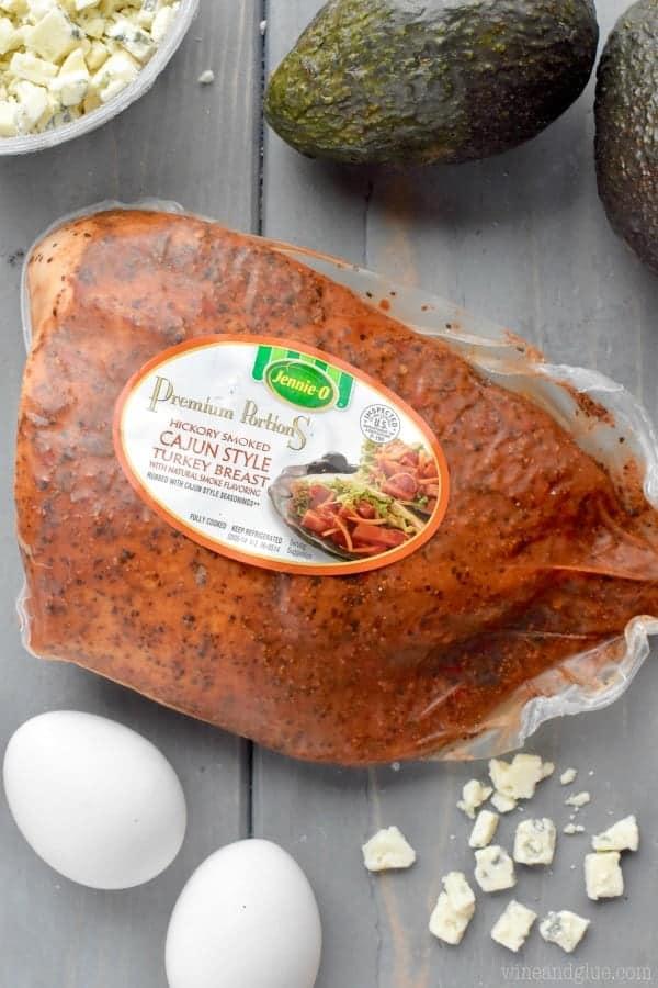 cajun style turkey breast used to make cajun cobb salad recipe