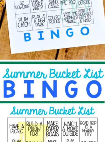 Free Printable Summer Bucket List Bingo