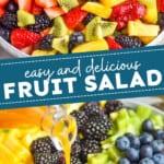 pinterest graphic of fruit salad