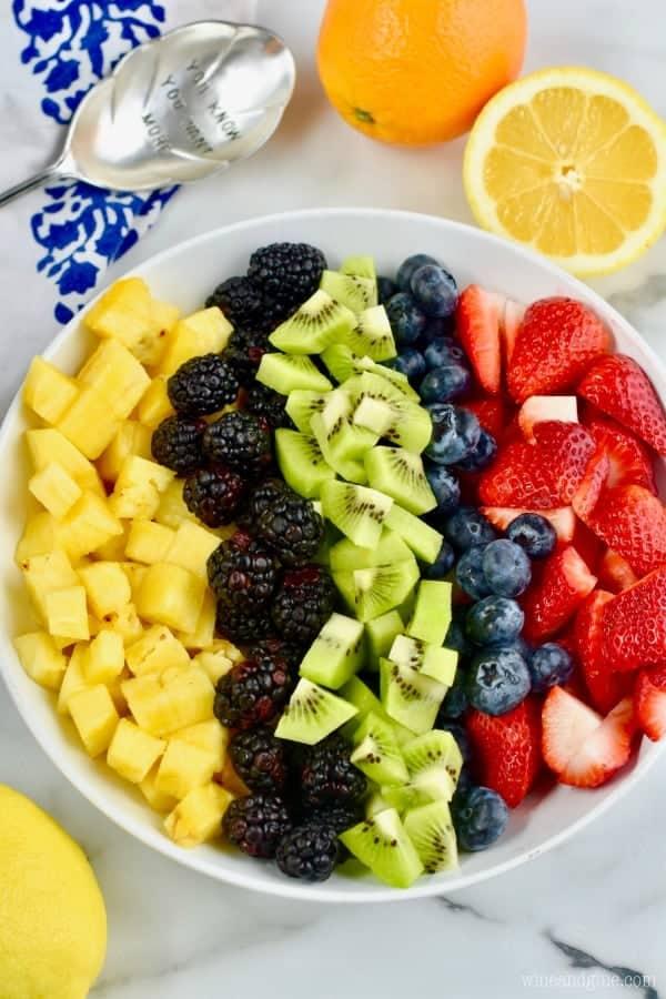 fresh fruit salad recipe separated by ingredient