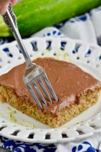 Take a bite of zucchini cake.